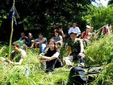 Pihenő portyázók - Kemence 2009