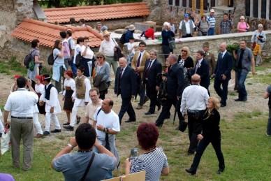 A Székely Gyors és a Csíksomlyó Expressz üdvözlése az 1000 éves határnál - Gyimes