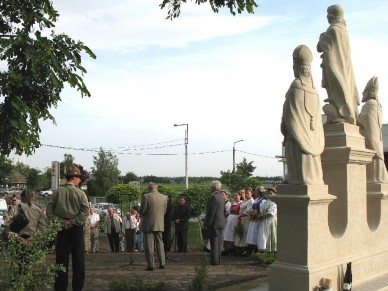Felavatták a felújított Időjós szentek szoborcsoportot - Fotó: Jászberény Online