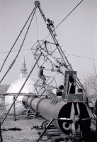 Az ország első 100 m3-es hidroglóbusza felállítás előtt  - 1959. november