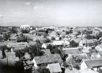 A város látképe a Szentkúti templom tornyából - 1959. június