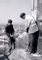 Az 1956 novemberében leégett toronysisak újjáépítése - 1968. október